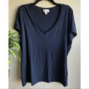 V neck tee Plus Size Forever21
